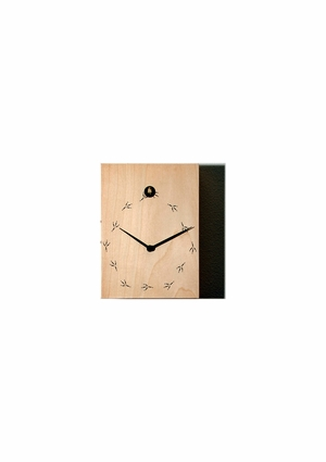 Natural Wood Tone Modern Cuckoo Clock - TipTop by Progetti