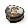 Nostalgic Heart Shape Painted Ercolano Music Jewelry Box Titled -Stormy Weather by MI Hummel