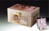 One Of A Kind Silver Pink Ballerina Musical Jewelry Box