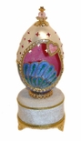 One of a Kind Whimsical Musical Goose Egg with Beautiful Bright Colors