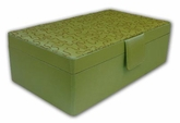 Perdiot Green Double Layered Rectangular Jewelry Box