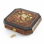 Perfectly Hand Crafted Floral Music Jewelry Box HUGE SALE