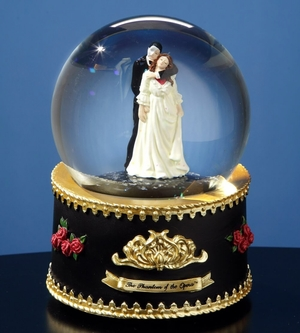 Phantom & Christine from Phantom of the Opera Rotating Water Globe