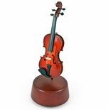 Prestigious 18 Note Miniature Classical Violin with Rotating Musical Base