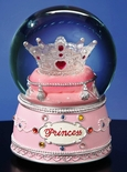 Princess Crown Water Globe By San Francisco Music Box Co.