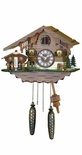 Quartz Pendulum Swiss Chalet Cuckoo Clock with Weather House by Trenkle Uhren