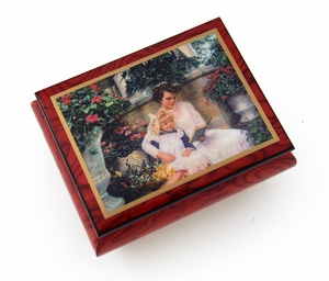 "Very Special Radiant Mother Ercolano Music Box -  ""A Time Together"" by Sandra Kuck"
