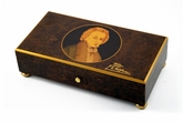 "Rare 72 Note ""Frederic Chopin"" with Gold Leaf Accents Music Box"