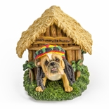 Rasta Bulldog with Dreadlocks Musical Keepsake Plays �Don�t Worry Be Happy�