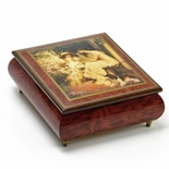 Red Wine Ercolano 18 Note  Musical Jewelry Box Title Morning Rose