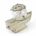 Romantic Gondola Inspired Musical Snow Globe with Fantasy Wedding Theme