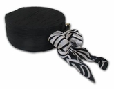 Round Black And White Ribbon Double Layer Jewelry Box