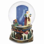 Santa Claus With Gifts Picture Frame Musical Water / Snow Globe By Twinkle, Inc.
