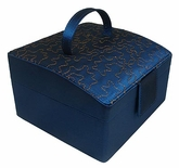 Sapphire Blue Double Layer Jewelry Box