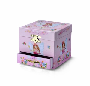 Simply Adorable Pink Fairy Spinning Ballerina Music Jewelry Box