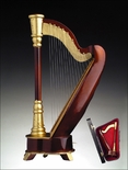 Simply Classy Grand Brown Harp Music Box Plays Music of the Night