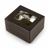"Sleek And Modern 36 NOTE 5"" x 3"" Photo Frame Musical Jewelry Box"