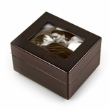 Sleek And Modern 5 X 3 Photo Frame Musical Jewelry Box