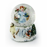 Snowman Playing, Picture Frame Musical Water / Snow Globe By Twinkle, Inc.