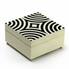 Sophisticated 30 Note Ivory with Black Lacquer accents Modern Sorrento Music Jewelry Box
