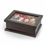 Sophisticated Modern 4 x 6 Photo Frame Musical Jewelry Box