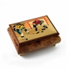Sports Theme Wood Inlay: Hockey - Collectible 30 Note Musical Jewelry Box