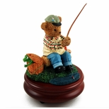 Thread Bears - Gone Fishing Musical Figurine