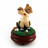 Thread Bears - The Perfect Swing with Golfer Threadbear Musical Figurine