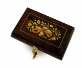 Timeless 30 Note Hand Crafted Musical Instrument and Floral Inlay Musical Jewelry Box