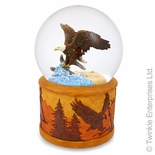 """ Top of the World"" - Bald Eagle Snow (Water) Globe from Twinkle"