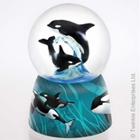 Amazing Killer Whales - Orcas at sea by Twinkle� Waterglobes