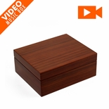 "Ultra-Modern 18 Note Hi Gloss S.A. Wood Finish 5"" LCD Video Jewelry Box"