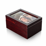 Ultra Modern 22 NOTE Fold-Up 6 x 4 Photo Frame Musical Jewelry Box