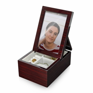 Ultra Modern Fold-Up 6 x 4 Photo Frame Musical Jewelry Box