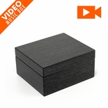 "Ultra-Modern Hi Gloss Black Apricot Finish 3.6"" LCD Video Jewelry Box"