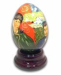 Van Gogh Hand Painted Reuge Musical Egg, Flawless