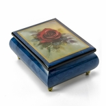 "Vibrant Blue Ercolano Music Jewelry Box - ""True Love"" by Lena Liu"
