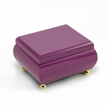 Vibrant Hi-gloss Lavender (purple) Musical Keepsake Jewelry Box