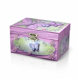 Vibrant Pink and Green Decorative Spinning Ballerina Musical Jewelry Box