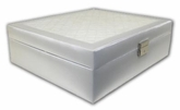 Wolf Design White Jewelry Box With White Velvet