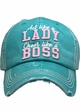 Act Like a Lady, Cheer Like a Boss Vintage Ballcap inset 2