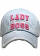 Act Like a Lady, Cheer Like a Boss Vintage Ballcap inset 3