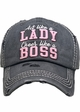 Act Like a Lady, Cheer Like a Boss Vintage Ballcap inset 4