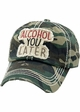 ALCOHOL YOU LATER Washed Vintage Baseball Hat inset 1