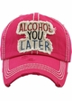 ALCOHOL YOU LATER Washed Vintage Baseball Hat inset 2