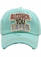 ALCOHOL YOU LATER Washed Vintage Baseball Hat inset 3