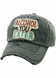 ALCOHOL YOU LATER Washed Vintage Baseball Hat inset 4