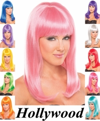 Hollywood- Shoulder Length Wig with Bangs