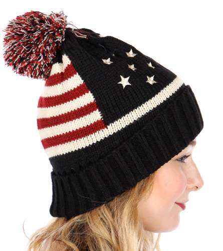 55c646d446ae ... American Flag Patriotic Knit Beanie Hat by CC inset 3 ...