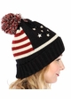 American Flag Patriotic Knit Beanie Hat by CC inset 3